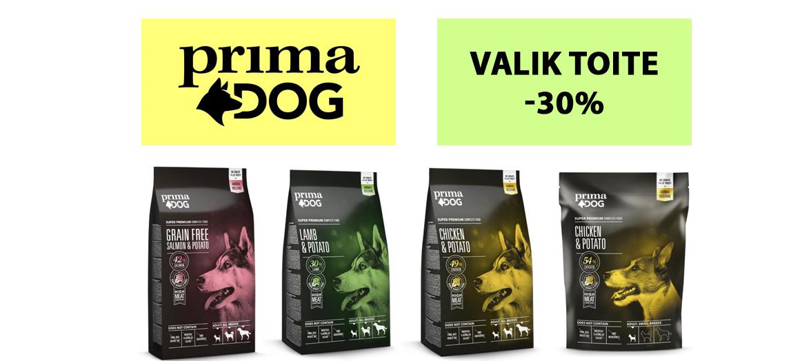 Prima Dog toidud -30%