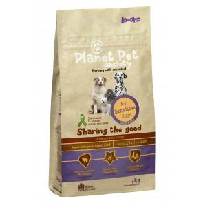 Planet Pet Society kuivtoit tundlikele koertele lambalihaga 3 kg