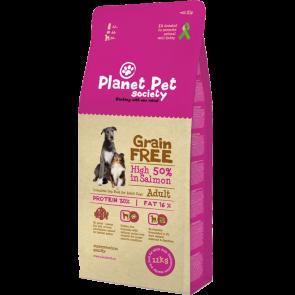 Planet Pet Society teraviljavaba kuivoit täiskasvanud koertele lõhega 12 kg