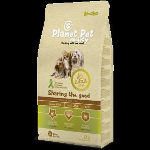 Planet Pet Society kuivtoit väikest tõugu täiskasvanud koerale 6kg + 1kg TASUTA!