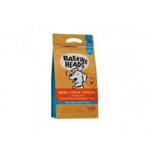 BARKING HEADS kuivtoit koertele Bowl Lickin Chicken väike tõug 1.5 kg