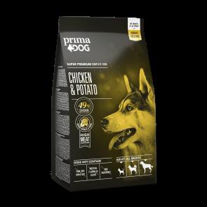 PrimaDog täistoit kana-kartuli kõikidele täiskasvanud koertele 2 kg