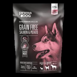PrimaDog GRAIN FREE täistoit lõhe-kartuli kõikidele täiskasvanud koertele 1,5 kg
