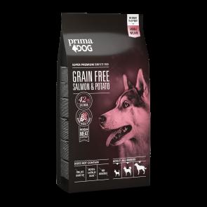 PrimaDog GRAIN FREE täistoit lõhe-kartuli, kõikidele täiskasvanud koertele 20 kg