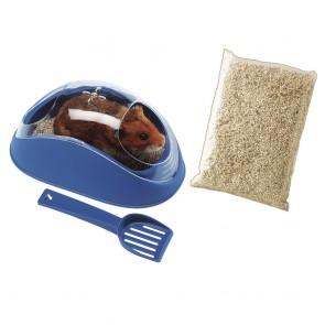 FERPLAST hamstri tualett Koky koos liiva ja kühvliga