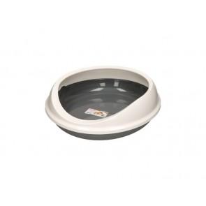Savic hall-valge ovaalne servaga kassiliivakast Figaro