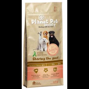 Planet Pet Society kuivtoit täiskasvanud koerale lõhe ja kartuliga 15 kg + 3 kg tasuta!