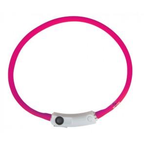 Racinel Comfort LED kaelarihm 40cm, ROOSA