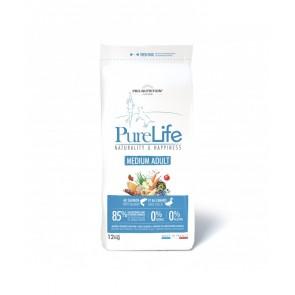 Pure Life koeratoit Medium Adult Lõhe ja Pardilihaga 12kg